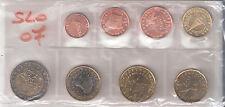 SLOVENIA DIVISIONALE  PRIVATA 2007 DA 1 CENT A 2 EURO FDC UNC