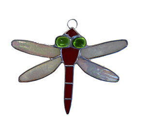 Red Crystal Dragonfly Suncatcher