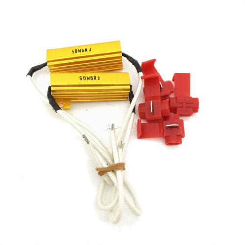 Paire 50 W 6ohm Charge Résistances pour DEL Ampoules Canbus Phare FOG LIGHT 55 W