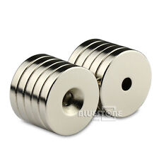 10x Strong Disc Magnet 30mm x 5mm Countersunk Hole 5mm Rare Earth Neodymium N50