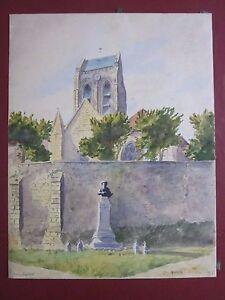 Watercolour-lucy-Garnot-auvers-daubigny