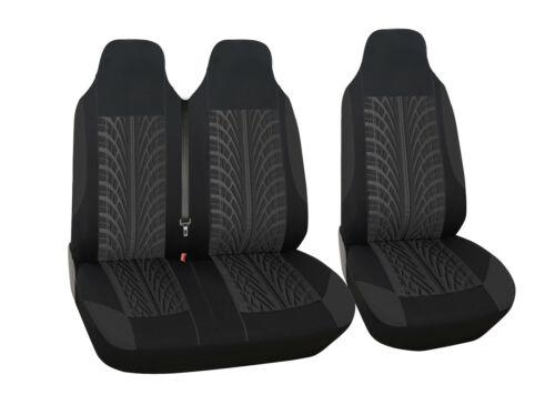 Sitzbezüge Schonbezüge 2+1 Schwarz mit Print Hochwertig