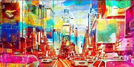 Eric Chestier  Times Square 2.0 Barella-Immagine Schermo New York Coloreeato Pop