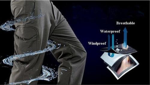 Trousers Pants Casual Shell Waterproof Cargo Mens Soft Fleece Combat Tactical wB84qp