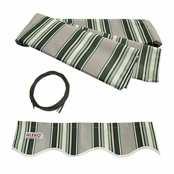 ALEKO Fabric Replacement For 12x10 Ft Retractable Awning ...