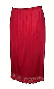 vintage-Half-Slip-Chantilli-Maidenform-Red-Antron-III-Nylon-Lace-Sexy-Mint-S