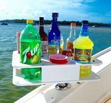 SEMI CUSTOM DOCKTAIL Boat Bottle and Cup Holder Bar with Magma Rod Holder Mount