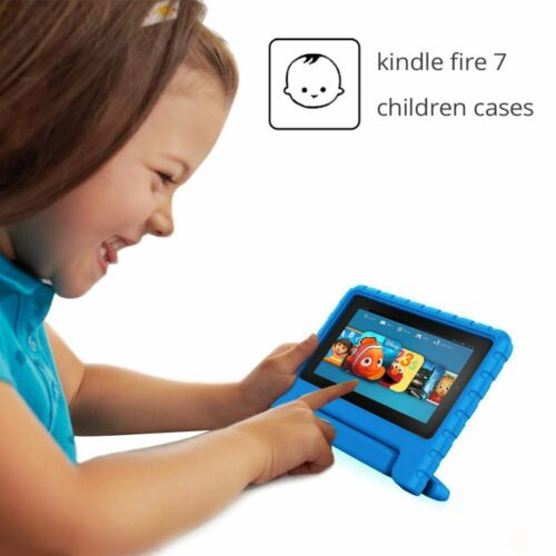 für Amazon Fire 7 2015 Hülle Internet Kinder schockfest Eva griff-abdeckung UK