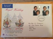 Princess Diana Wedding First Day Print Invitation With Card 1981 RARE!