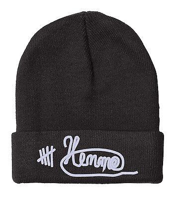 """LUKE HEMMINGS Signature, 5 Seconds of Summer, 12"""" BEANIE"""