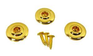 """3pc. Gold """"disc-style"""" String Retainers-great For Cigar Box Guitars & Plus-afficher Le Titre D'origine Belle Et Charmante"""