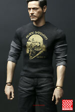 Cool Design Figure 1//6 Iron Man Tony Stark T-shirt Clothes Set For 12/'/' Figure