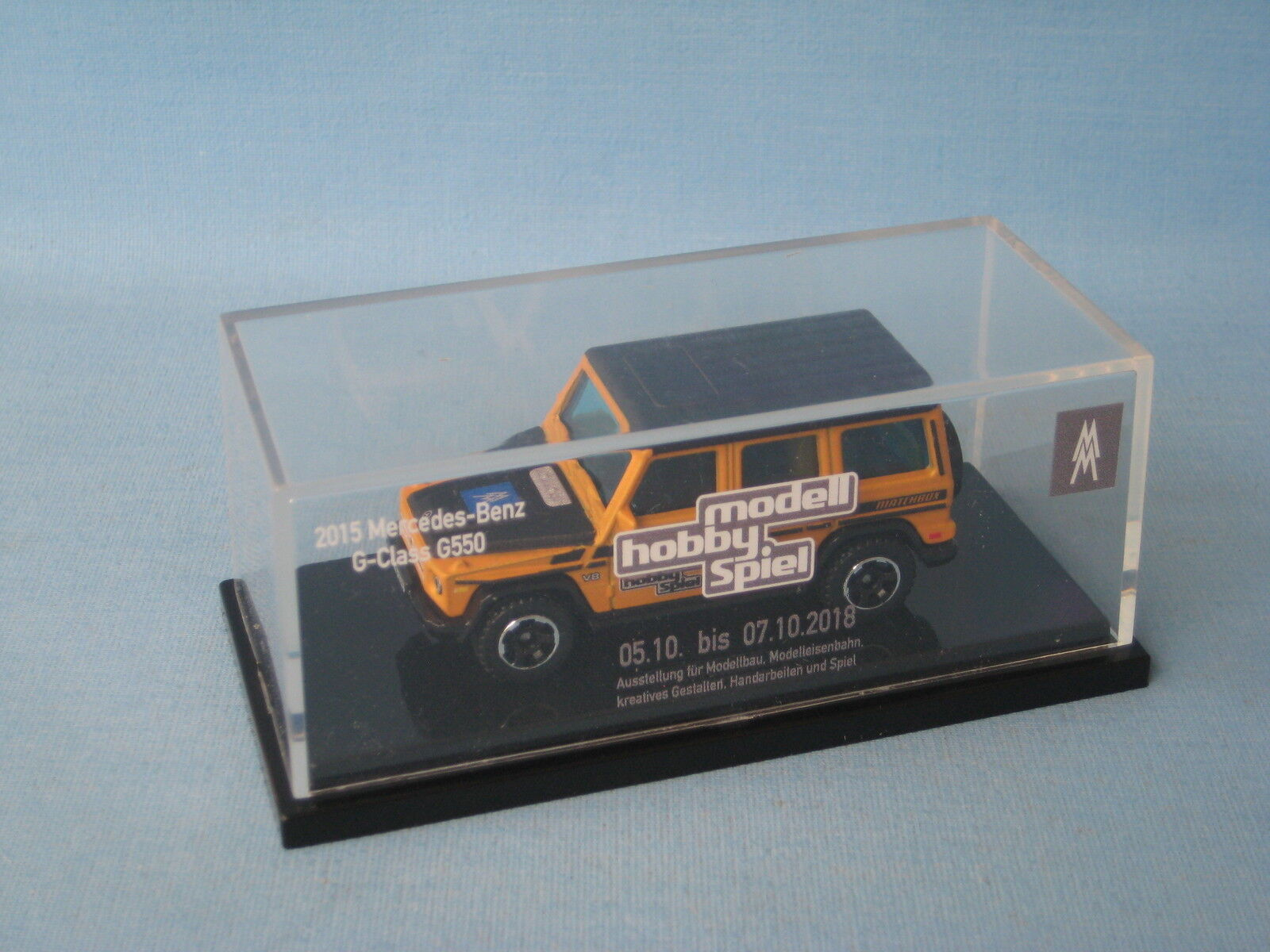 Matchbox Mercedes-Benz G550 Gelb 2018 Leipzig Rare Edition Toy Model Car 70mm