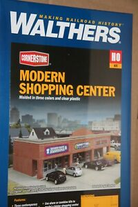WALTHERS-933-4115-MODERN-SHOPPING-CENTER-BUILDING-KIT-NEW