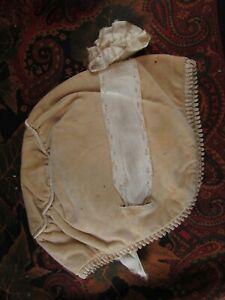 old-very-grand-hat-doll-porcelain-doll-hat-velvet-headdress-embroidered-19e