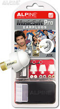 Alpine Music Safe Pro White Professional DJ Musician Earplugs Hearing Protection