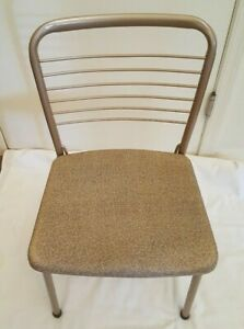Vintage-MCM-COSCO-Fashionfold-Folding-Metal-Steel-Patio-Kitchen-Chair-RV-Trailer