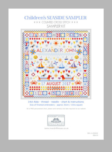 Seaside Sampler Counted Cross Stitch Kit personnalisé graphique *