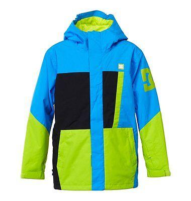 New 2015 Boys Youth DC AMO Snowboard Jacket Medium Electric Blue