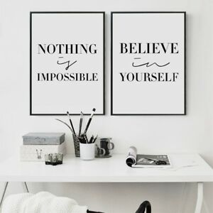 black and white inspirational quotes canvas art print minimalist