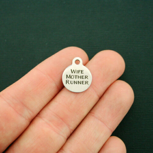 Mother BFS1682 Wife Runner Smaller Size Fitness Stainless Steel Charms