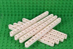LEGO-technic-liftarm-blanc-pack-de-8-13-L-13-Trous-Mindstorm-NXT-faisceau-NEUF
