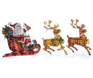 Light Up Acrylic Reindeer Sleigh Christmas Decoration Led Find Complete Details About