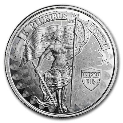 Seated Liberty Design 1-1 oz .999 Silver Round Brilliant Uncirculated