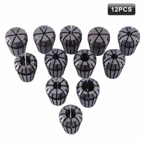 New 12Pcs ER16 Spring Collet Set For CNC Milling Lathe Tool Engraving Machine US