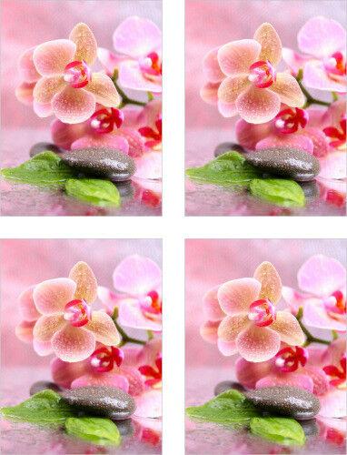 Fliesenaufkleber Fliesenbild Blumen Orchidee SPA Wellness Aufkleber Fliesen Bad