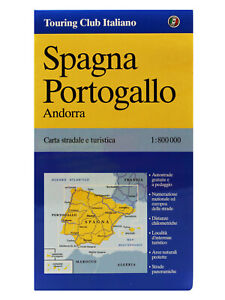 Cartina Stradale Portogallo.Spagna E Portogallo Andorra Cartina Stradale 1 800 000 Carta Mappa Touring Ebay