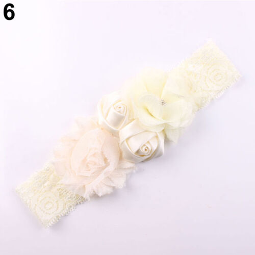 GN Lace Flower Design Hairband Turban Headwear For Newborn Hair Accessories Nov