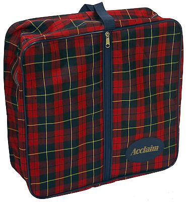 Acclaim Köster Damen rote marineblau SCHOTTENKARO Reißverschluss Quadrat Tasche