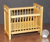 Dollhouse Miniature Oak Baby Bed Crib 1:12 One Inch Scale D54