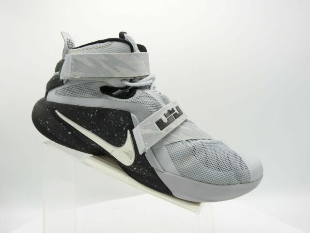 detailed pictures 04e58 94afc Nike Lebron Soldier 9 749490-010 Size 15m Gray Black Basketball Sport Mens  Shoes