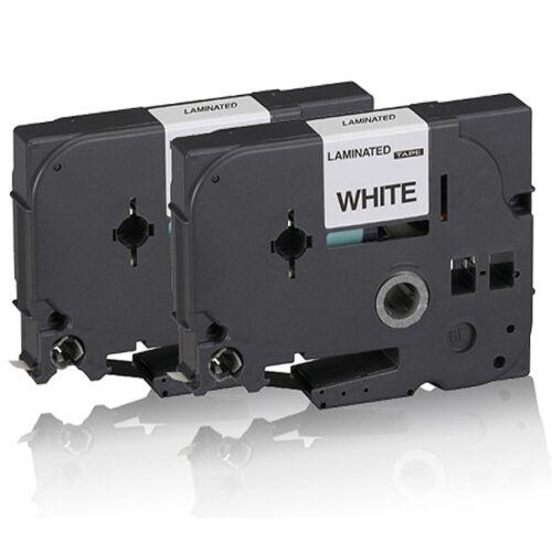 2x Kompatible Schriftbänder für Brother PTouch-1200 9MM x 8M Ersatz