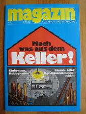 Magazin für Haus und Wohnung Nr. 1 1977 * DDR * Thema: Mach was aus dem Keller!