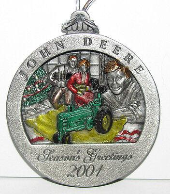 John Deere JD 2001 Pewter Christmas Ornament