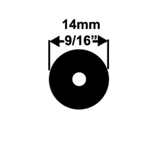 3.1m 9//16in 14mm Primeline Speargun Band Rubber Latex Tubing BLACK 10 Feet