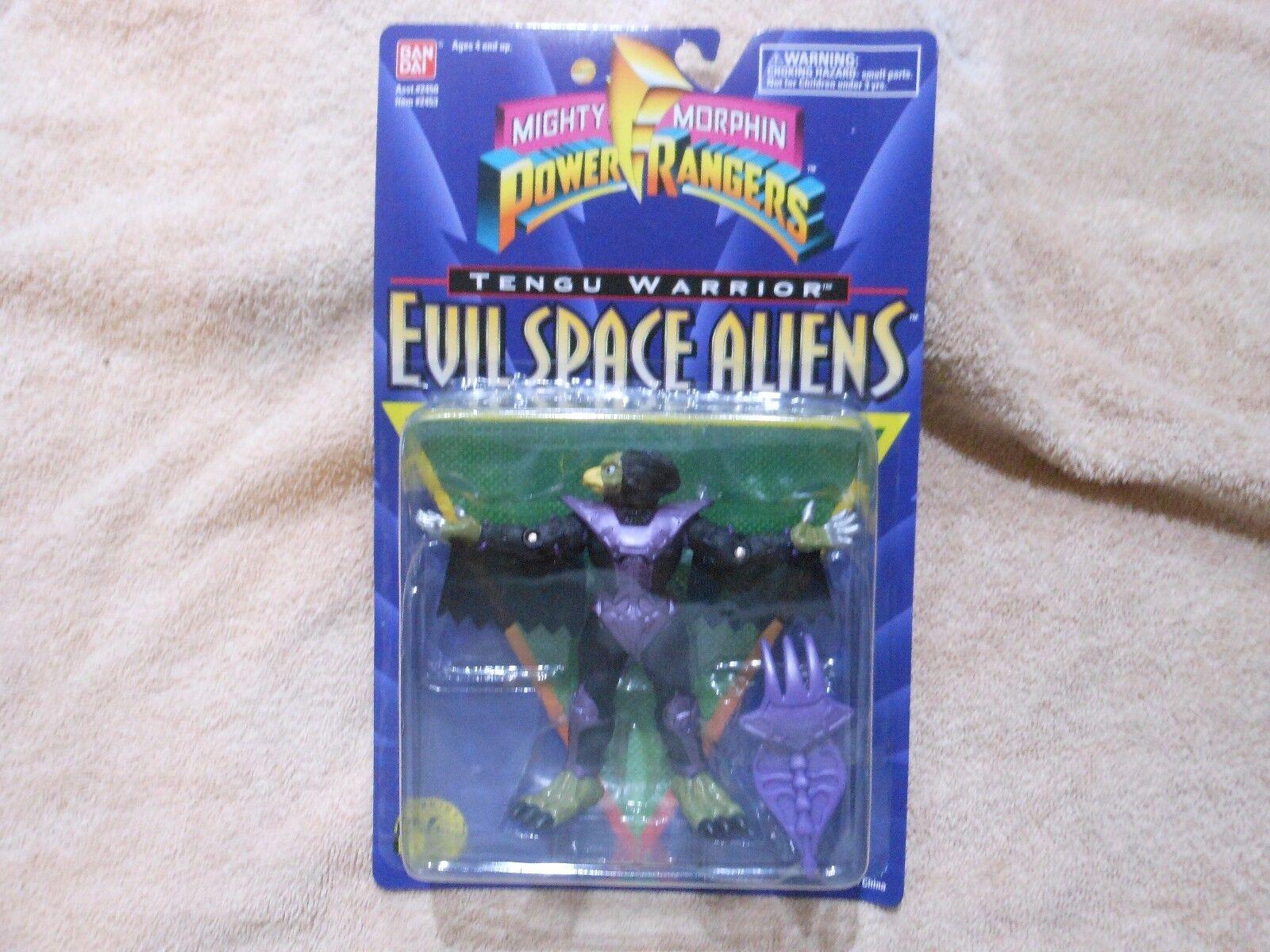 Mighty Morphin Power Rangers Evil Space Aliens: 5  Tengu Warrior NEW ON CARD OOP