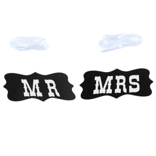 2pcs Mr and Mrs Photo Booth Props Chair Signs Wedding Reception Decor TDCA