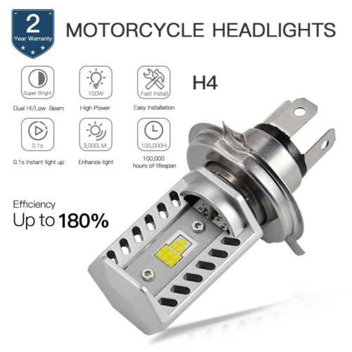 H4 For Harley XL1200X 10-17 Forty Eight LED Headlight Hi//Low 1x 9003 White Bulb