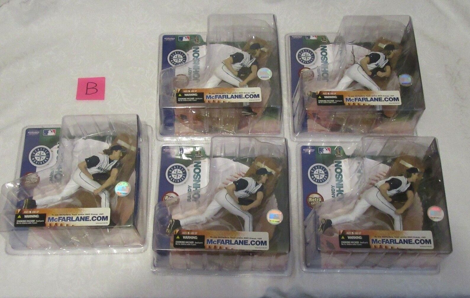 McFarlane MLB Series 7 Randy Johnson Chase Variant Retro Edition Lot of 5 B