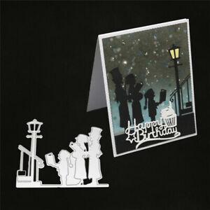 Stanzschablone-Chor-Kirche-Hochzeit-Weihnachten-Geburtstag-Oster-Karte-Album-DIY