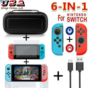 Accessories Hard Case Bag+Shell Cover+Charge Cable+Protector For Nintendo Switch