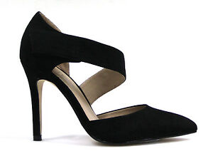 THERAPY WOMENS BEACON BLACK SUEDE POINT TOE SHAPE HEELED SHOE