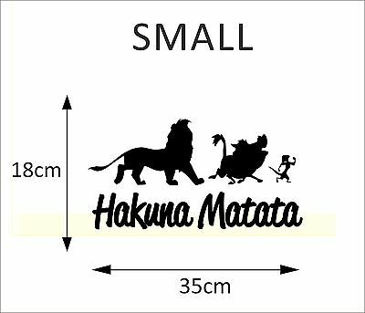 HAKUNA MATATA Lion King Quote - Simba Timon Pumbaa Disney Wall Art Decal Sticker