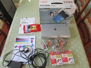 Canon-PIXMA-iP90-K10249-Photo-Inkjet-Printer-with-INK-original-box-Excellent