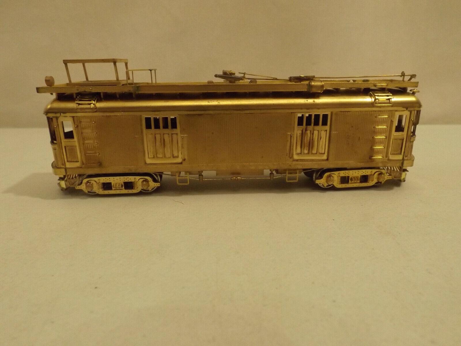 HO Suydam brass Pacific Electric wood tower car in original box