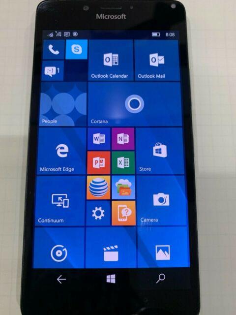 Windows Phone 10 Microsoft Lumia 950 3GB Black AT&T 4G LTE Smartphone Used